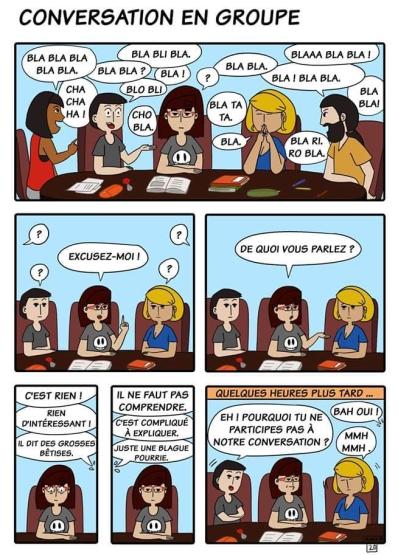 conversation en groupe